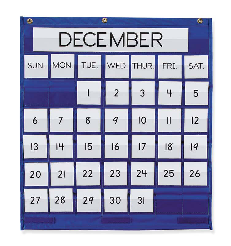 Pocket Chart Monthly Calendar Blue Return To Previous Page Lightbox